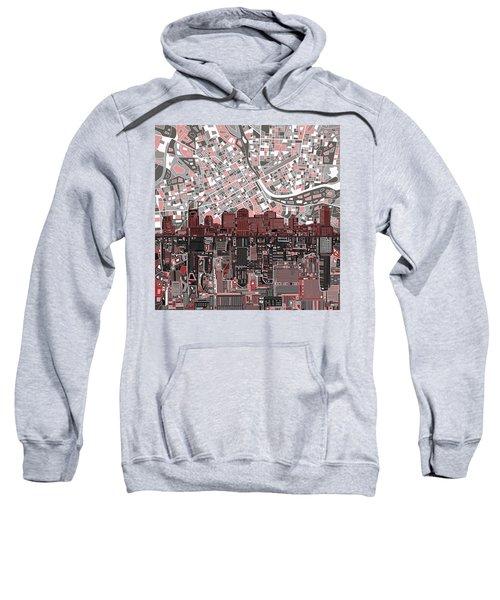 Nashville Skyline Abstract 3 Sweatshirt