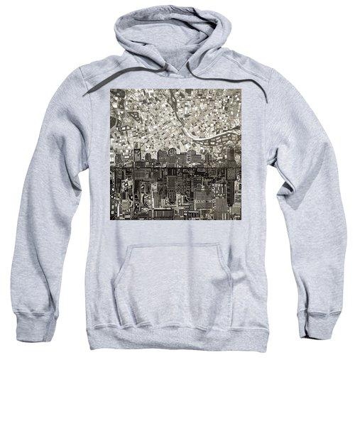 Nashville Skyline Abstract 5 Sweatshirt
