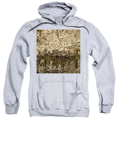 Nashville Skyline Abstract 6 Sweatshirt