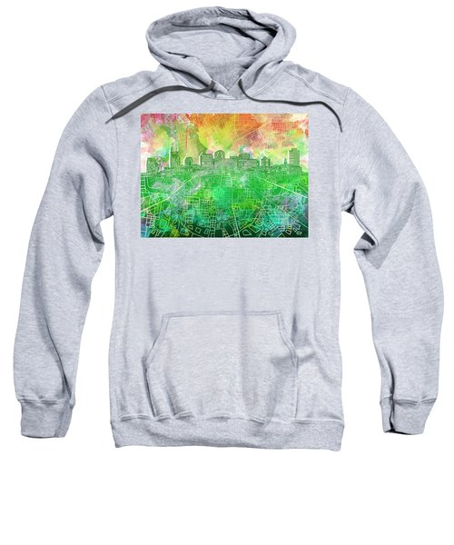 Nashville Skyline Watercolor 2 Sweatshirt