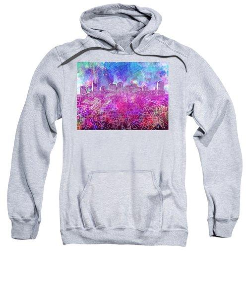 Nashville Skyline Watercolor Sweatshirt