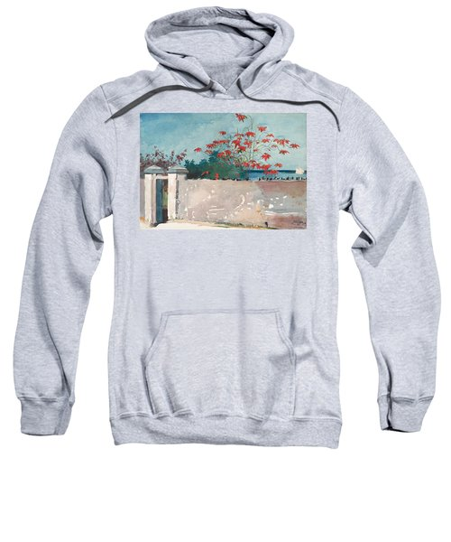 Sweatshirt featuring the painting Nassau Bahamas by Winslow Homer