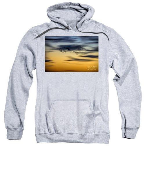 Natural Abstract Art Sweatshirt by Peggy Hughes