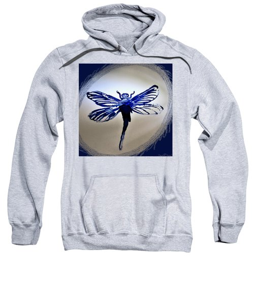 Navy Dragonfly Alcohol Inks  Sweatshirt
