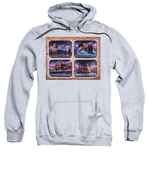 New Mexico Churches In Snow Sweatshirt