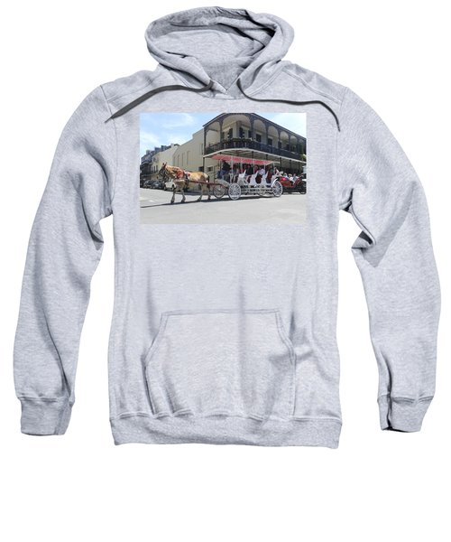 Carriage Ride In New Orleans 22 Sweatshirt