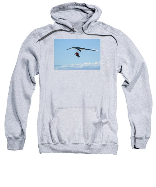 Hanggliding Couple In The Sky With An Aeroplane  Sweatshirt