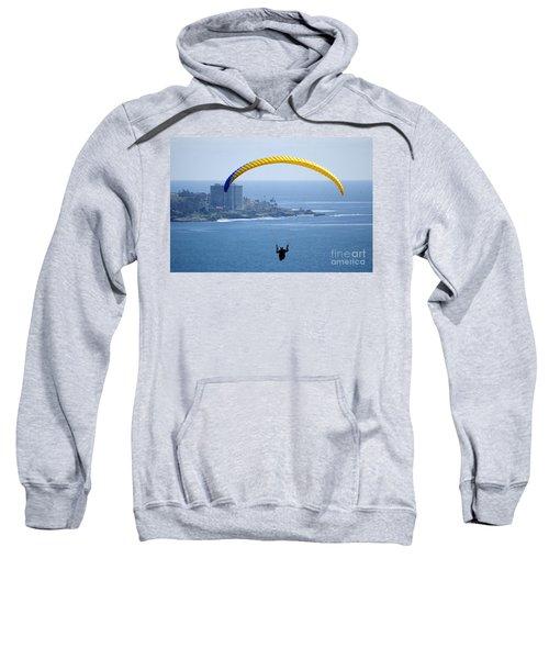 Hanggliding Over San Diego Sweatshirt