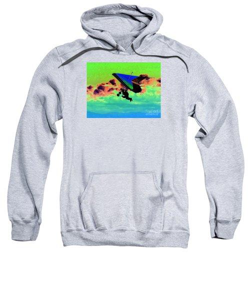 Pop Art Love Is Hanggliding Together Sweatshirt
