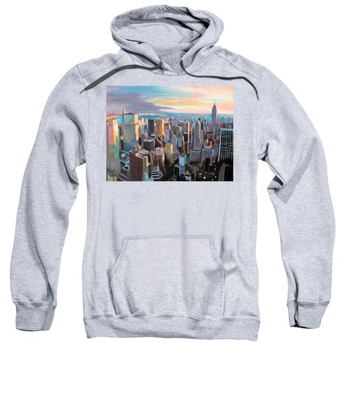 New York City - Manhattan Skyline In Warm Sunlight Sweatshirt