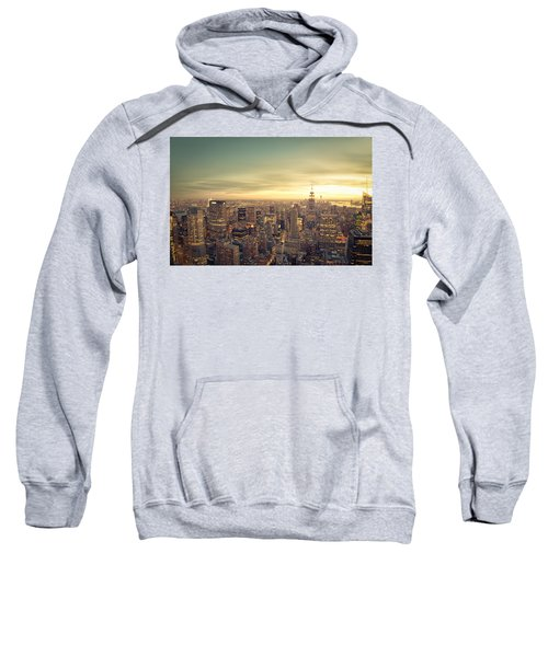 New York City - Skyline At Sunset Sweatshirt