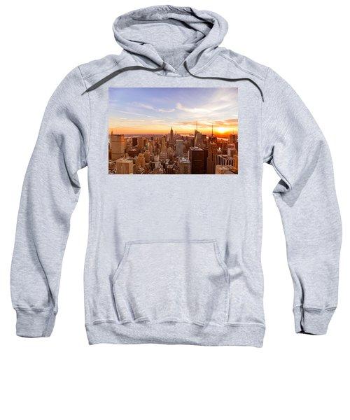 New York City - Sunset Skyline Sweatshirt by Vivienne Gucwa