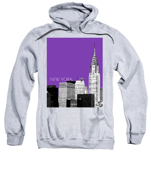 New York Skyline Chrysler Building - Purple Sweatshirt