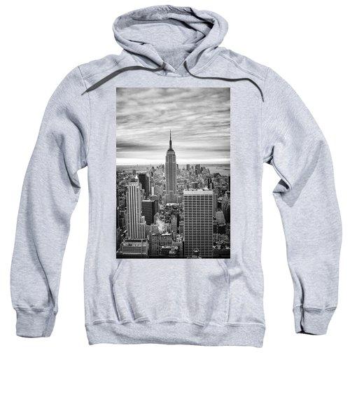 Black And White Photo Of New York Skyline Sweatshirt