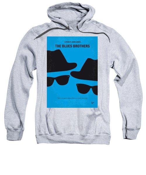 No012 My Blues Brother Minimal Movie Poster Sweatshirt by Chungkong Art