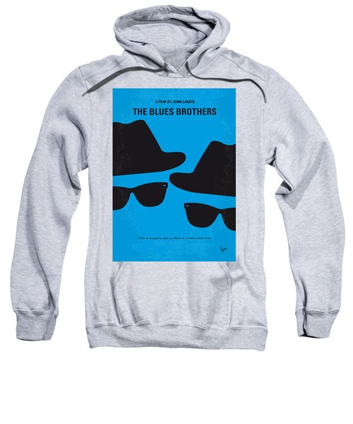 No012 My Blues Brother Minimal Movie Poster Sweatshirt