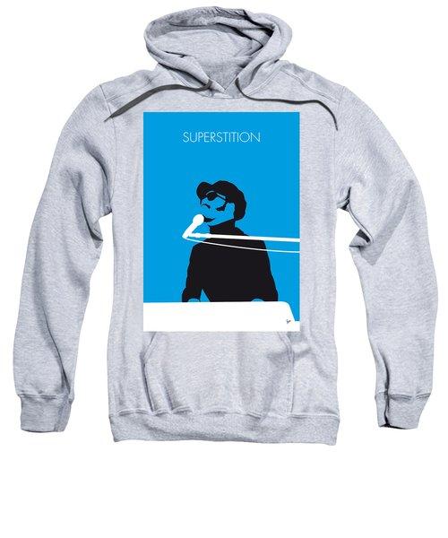 No039 My Stevie Wonder Minimal Music Poster Sweatshirt