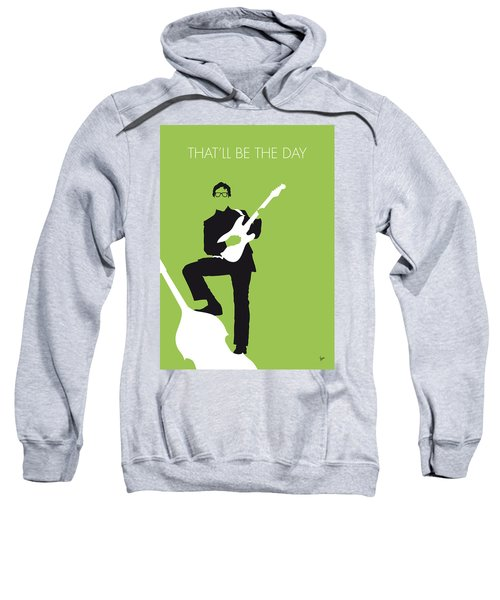 No056 My Buddy Holly Minimal Music Poster Sweatshirt by Chungkong Art