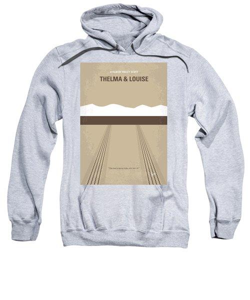 No189 My Thelma And Louise Minimal Movie Poster Sweatshirt