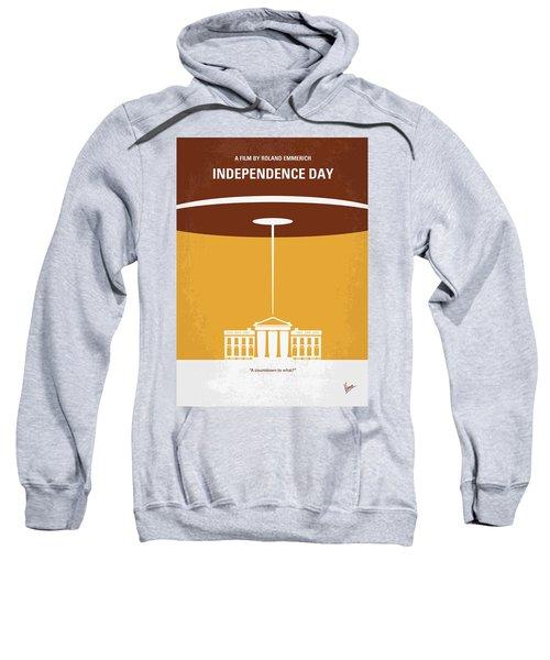 No249 My Independence Day Minimal Movie Poster Sweatshirt