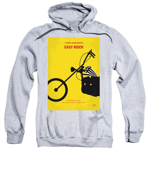 No333 My Easy Rider Minimal Movie Poster Sweatshirt by Chungkong Art