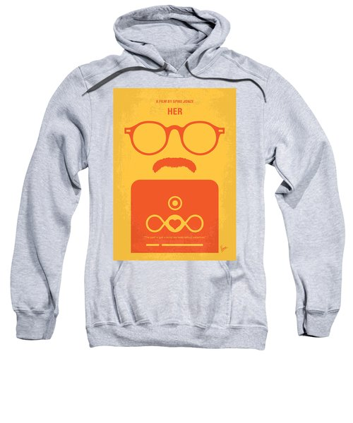 No372 My Her Minimal Movie Poster Sweatshirt