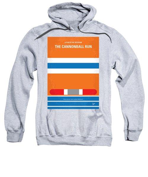 No411 My The Cannonball Run Minimal Movie Poster Sweatshirt