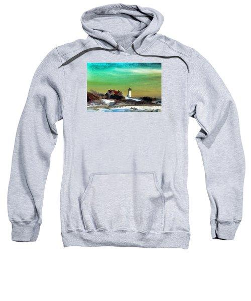 Nobska Lighhouse In Winter Sweatshirt
