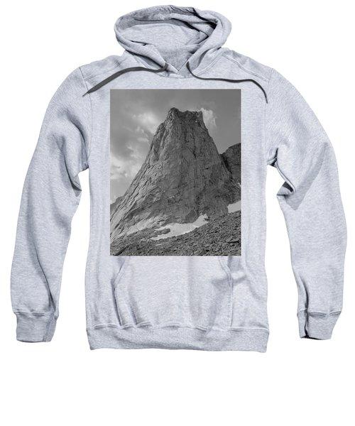 109649-bw-north Face Pingora Peak, Wind Rivers Sweatshirt