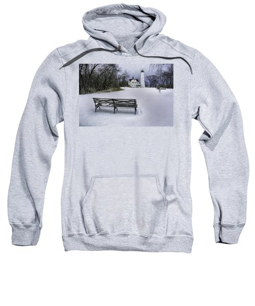 North Point Lighthouse And Bench Sweatshirt