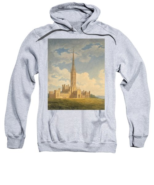 North-west View Of Fonthill Abbey Sweatshirt