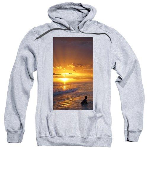 Not Yet - Sunset Art By Sharon Cummings Sweatshirt