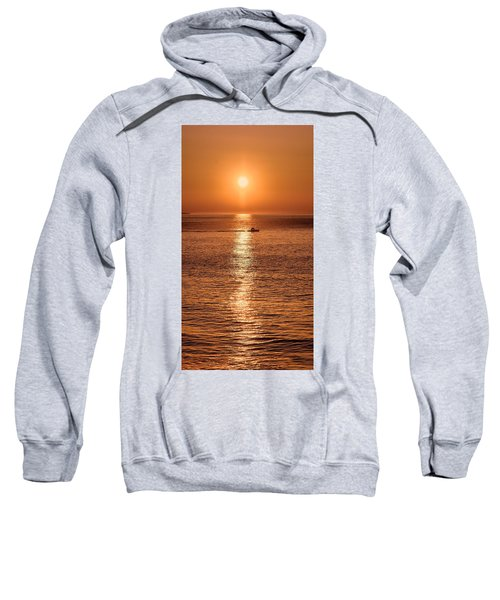 Ocean Sunrise At Montauk Point Sweatshirt