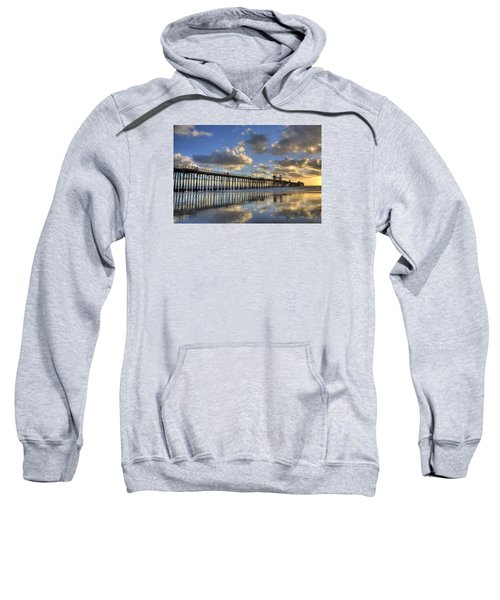 Oceanside Pier Sunset Reflection Sweatshirt