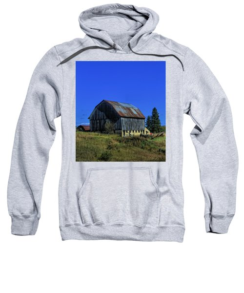 Old Broken Down Barn In Ohio Sweatshirt