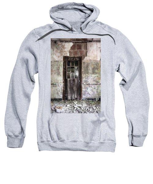 Old Door - Abandoned Building - Tea Sweatshirt
