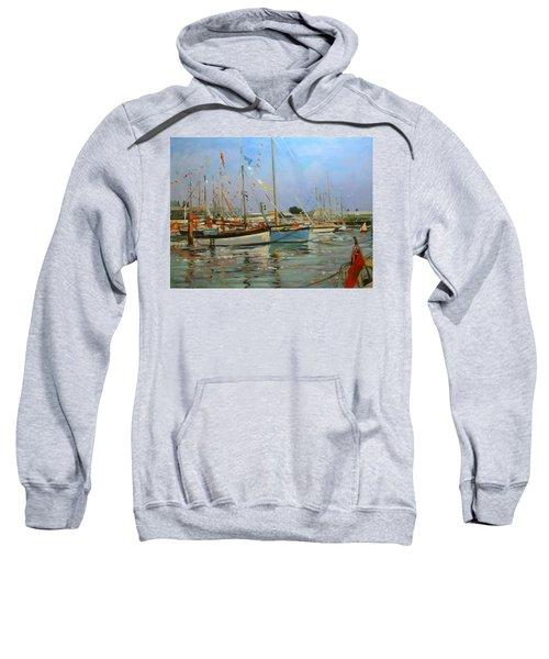 Old Gaffers  Yarmouth  Isle Of Wight Sweatshirt by Jennifer Wright