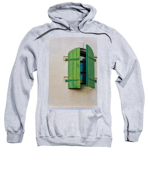 Old Green Shuttered Window Sweatshirt