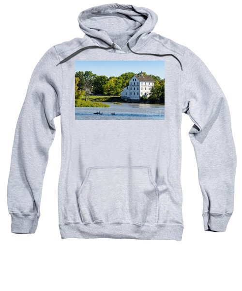 Old Mill On Grand River In Caledonia In Ontario Sweatshirt