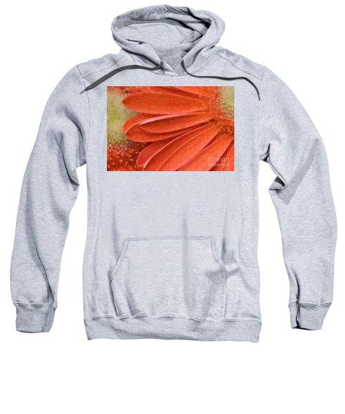 Orange Gerber Daisy Painting Sweatshirt
