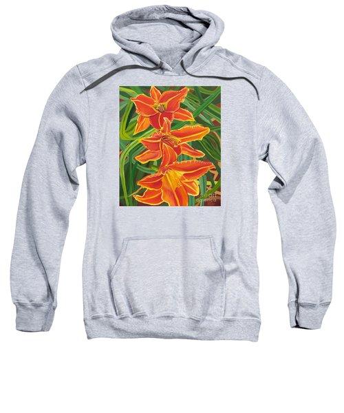 Orange Lilies Sweatshirt