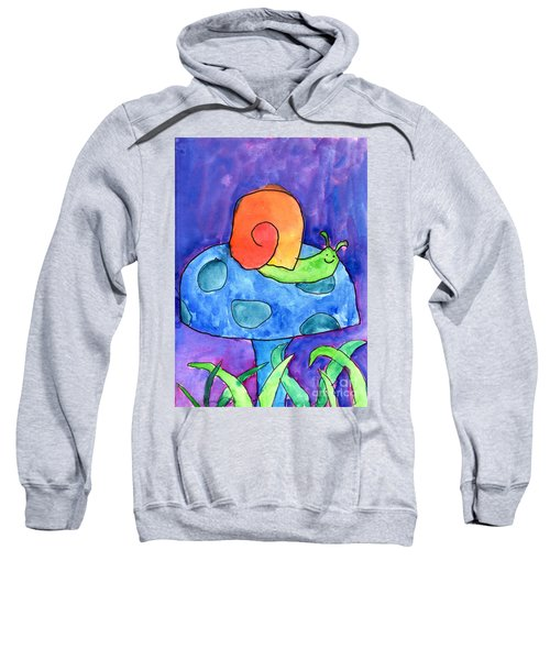 Orange Snail Sweatshirt