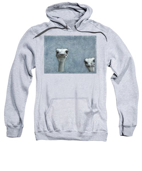 Ostriches Sweatshirt by James W Johnson