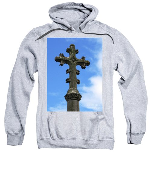 Sweatshirt featuring the photograph Over Hay-on-wye by Denise Railey