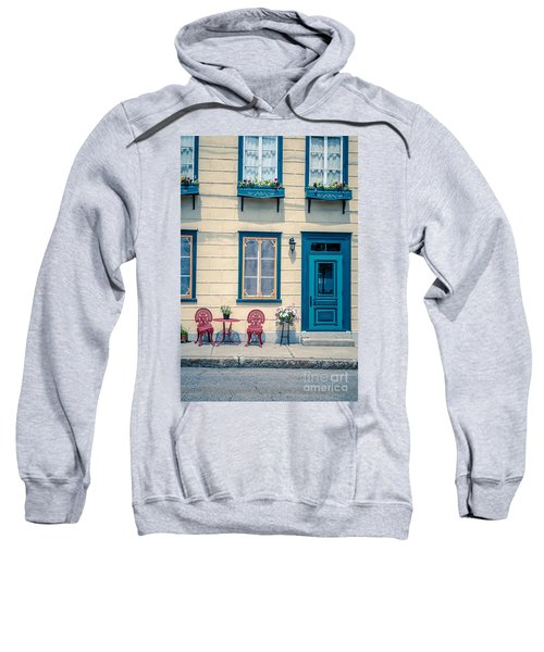 Painted Townhouse In Old Quebec City Sweatshirt