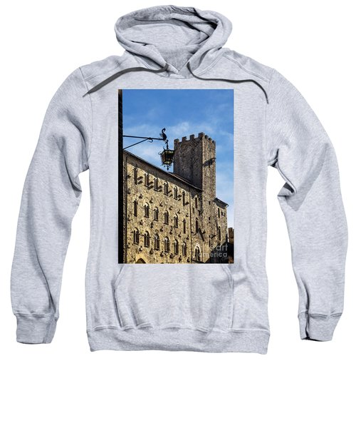 Palazzo Pretorio And The Tower Of Little Pig Sweatshirt