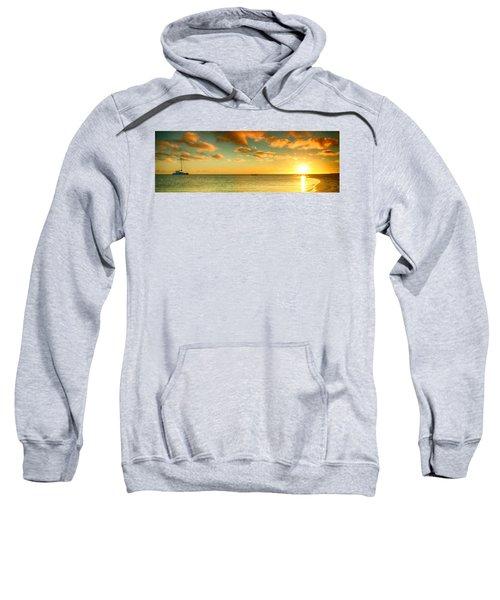 Panoramic Photo Sunrise At Monky Mia Sweatshirt