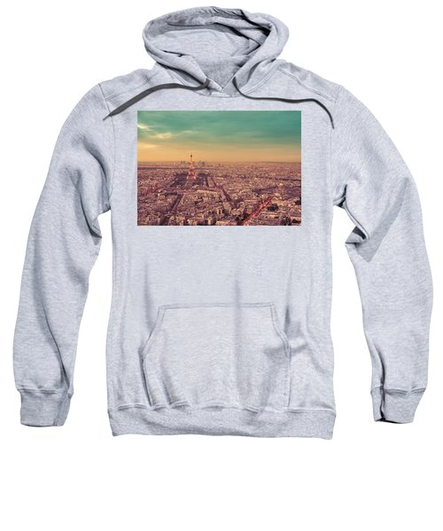 Paris - Eiffel Tower And Cityscape At Sunset Sweatshirt