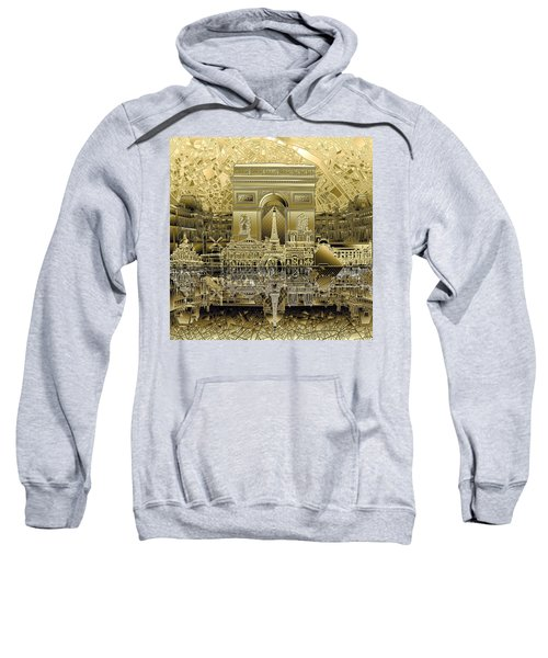 Paris Skyline Landmarks 4 Sweatshirt