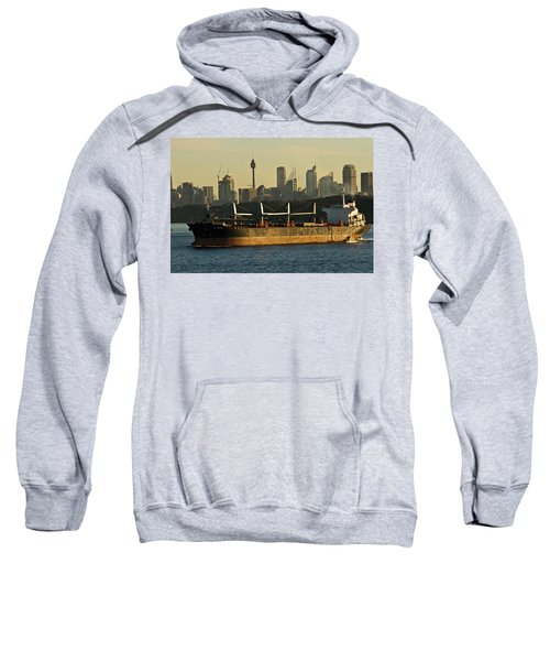 Sweatshirt featuring the photograph Passing Sydney In The Sunset by Miroslava Jurcik